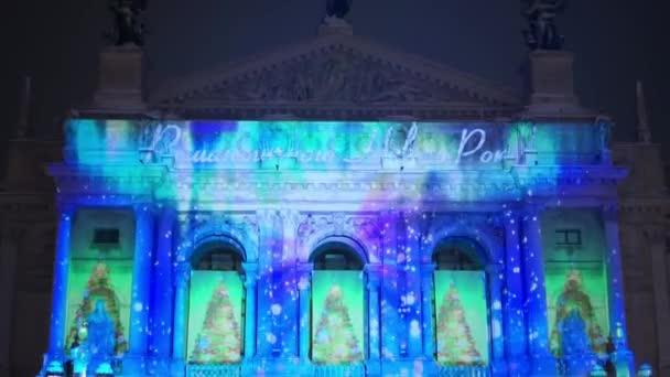 Christmas Fair in Lviv, Ukraine opera house