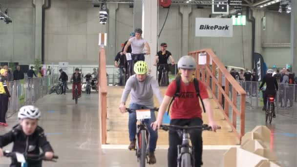 People of all ages are testing new bikes