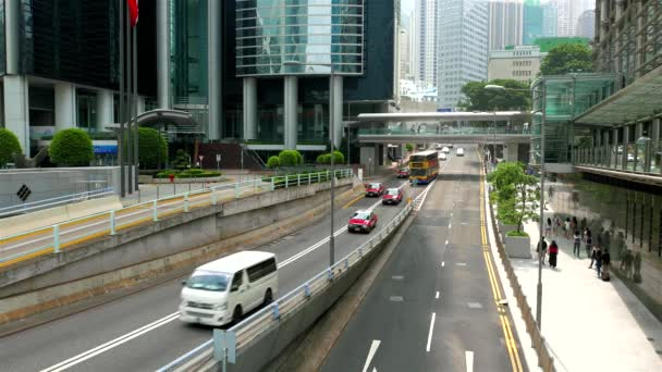 footage of cars riding on highway in hong kong