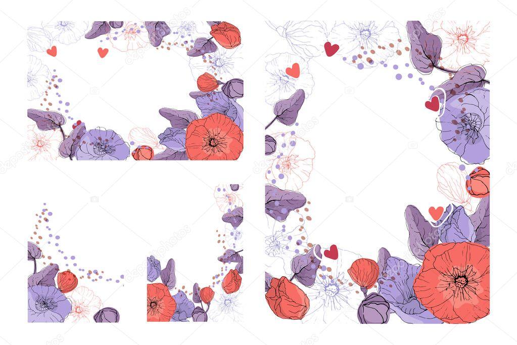 Art floral greeting card.