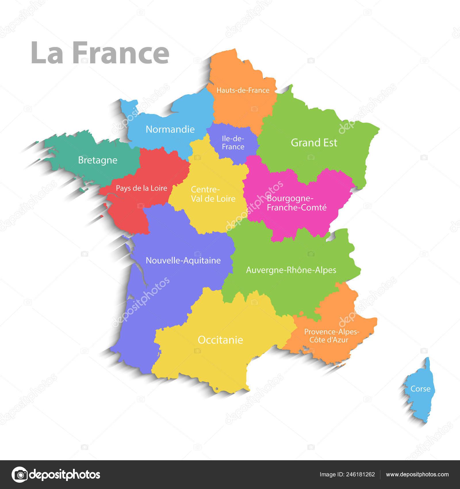 Frankreich Karte Regionen.Frankreich Karte Neue Politische Detailkarte Separate Einzelne