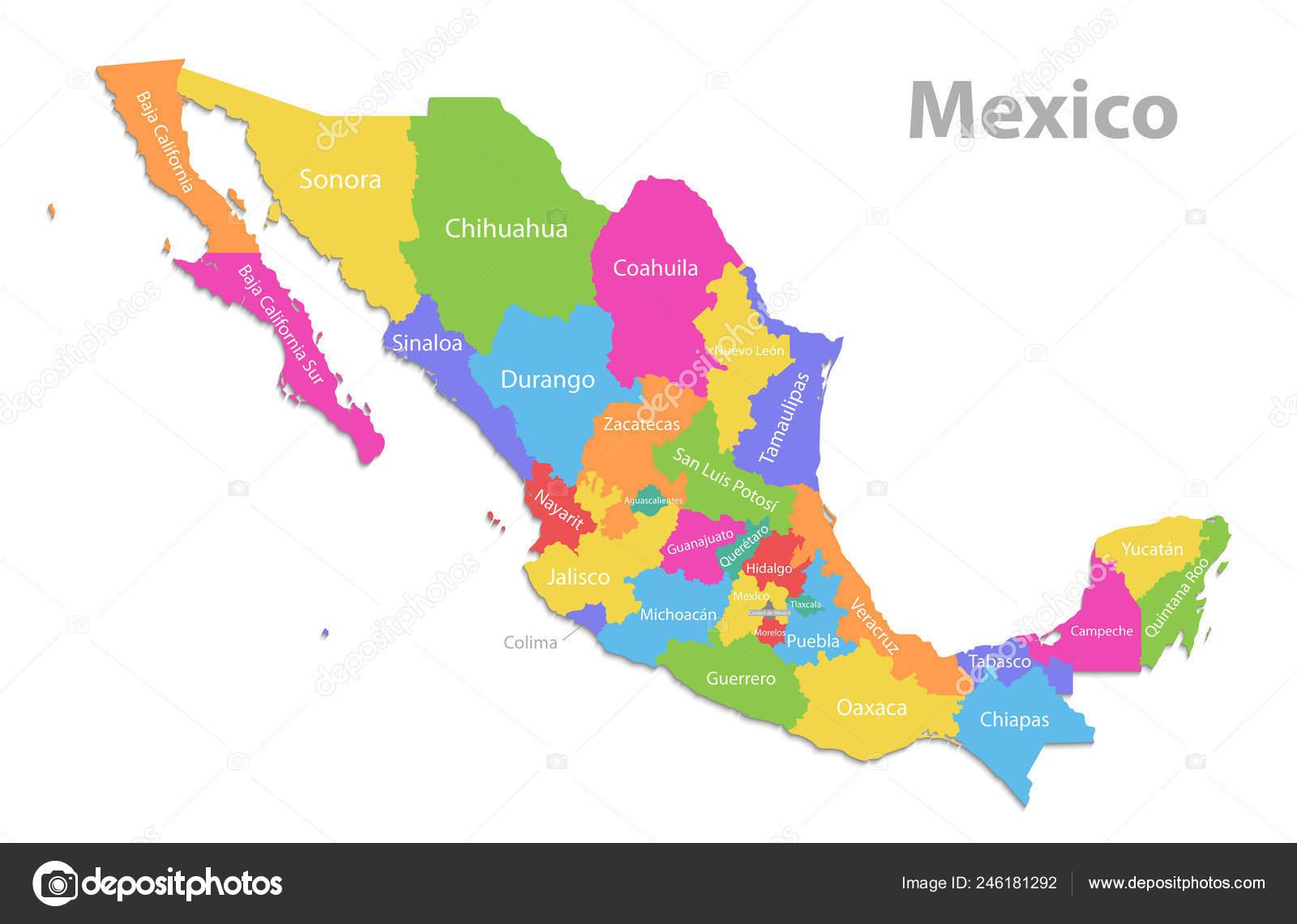Estados De Mexico Mapa.Mexico Mapa Mapa Detallado Politica Nuevas Estados