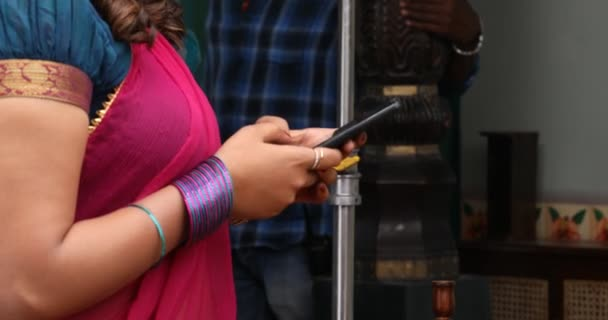 Female hands with cell phone