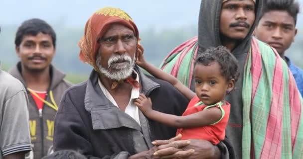 Tribal Father with child Araku valley Andhra Pradesh India