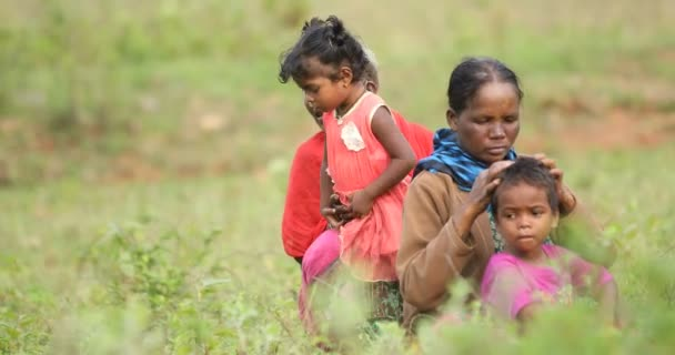 Tribal Mother and kid at Fields Araku Valley Andhra Pradesh India 25th March 2019