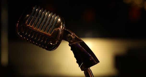 Vintage mikrofon sziluett Hyderabad India 27 augusztus 2019