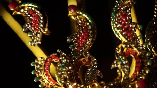Zlaté šperky makro shot