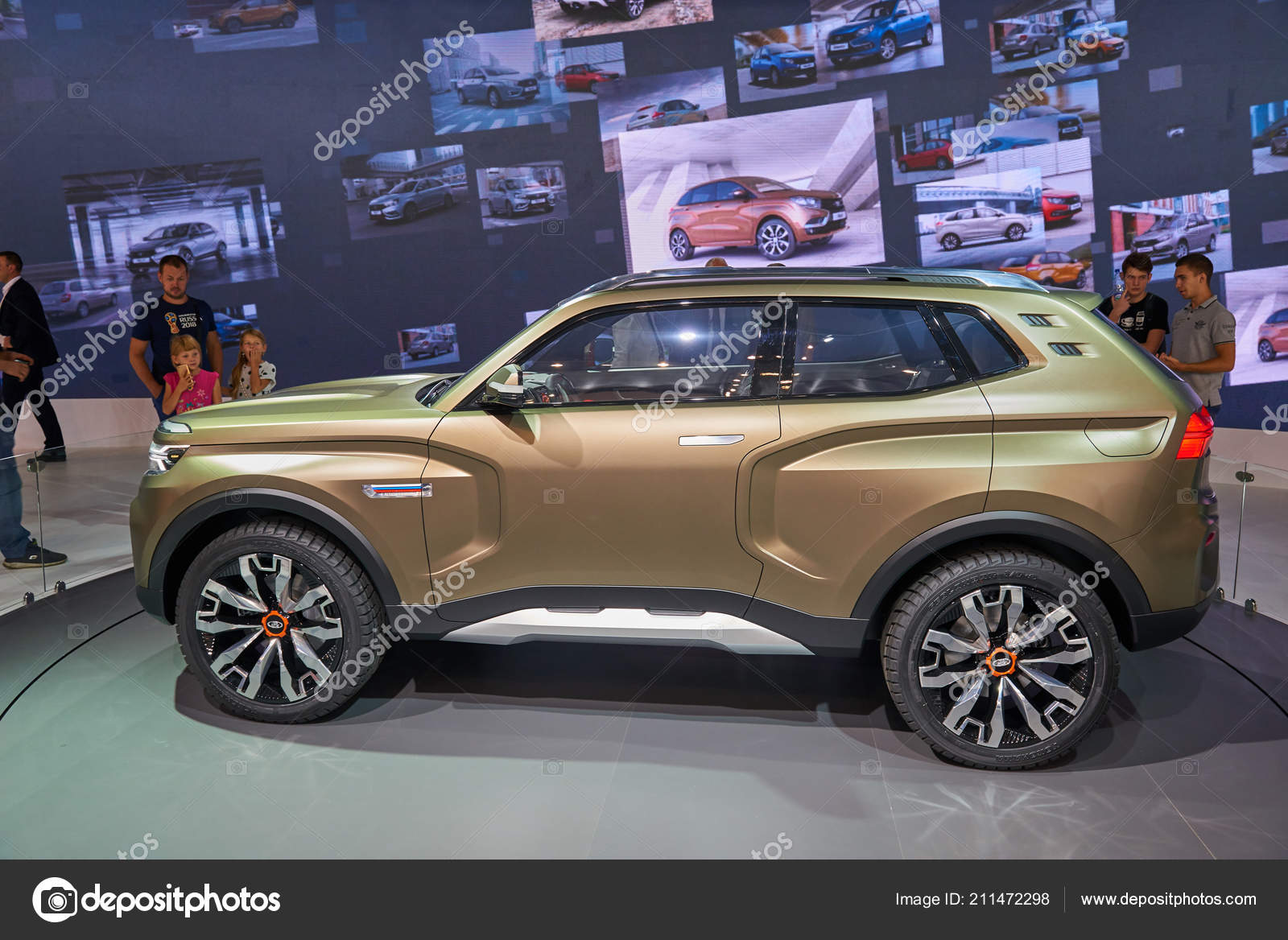 New Lada Niva 2018 >> Moscow Aug 2018 View Lada Stand New Concept Road Car – Stock Editorial Photo © MikhailLeonov ...