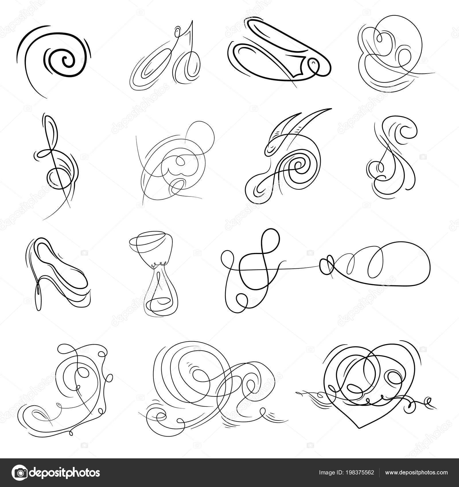 Monogramas Decorativos Señalización Plantilla Logotipos Etiquetas ...