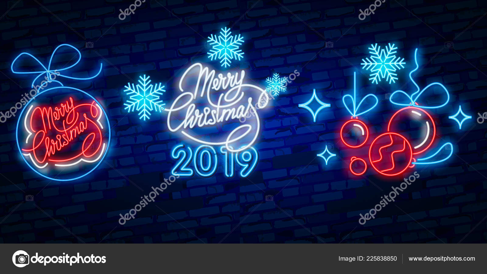 depositphotos 225838850 stock illustration merry christmas and 2019 happy