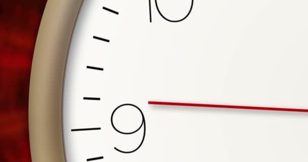Moderní styl hodiny v makro 3d pohledy. Časovač, z druhé ruky a minutová ručička s velkými číslicemi