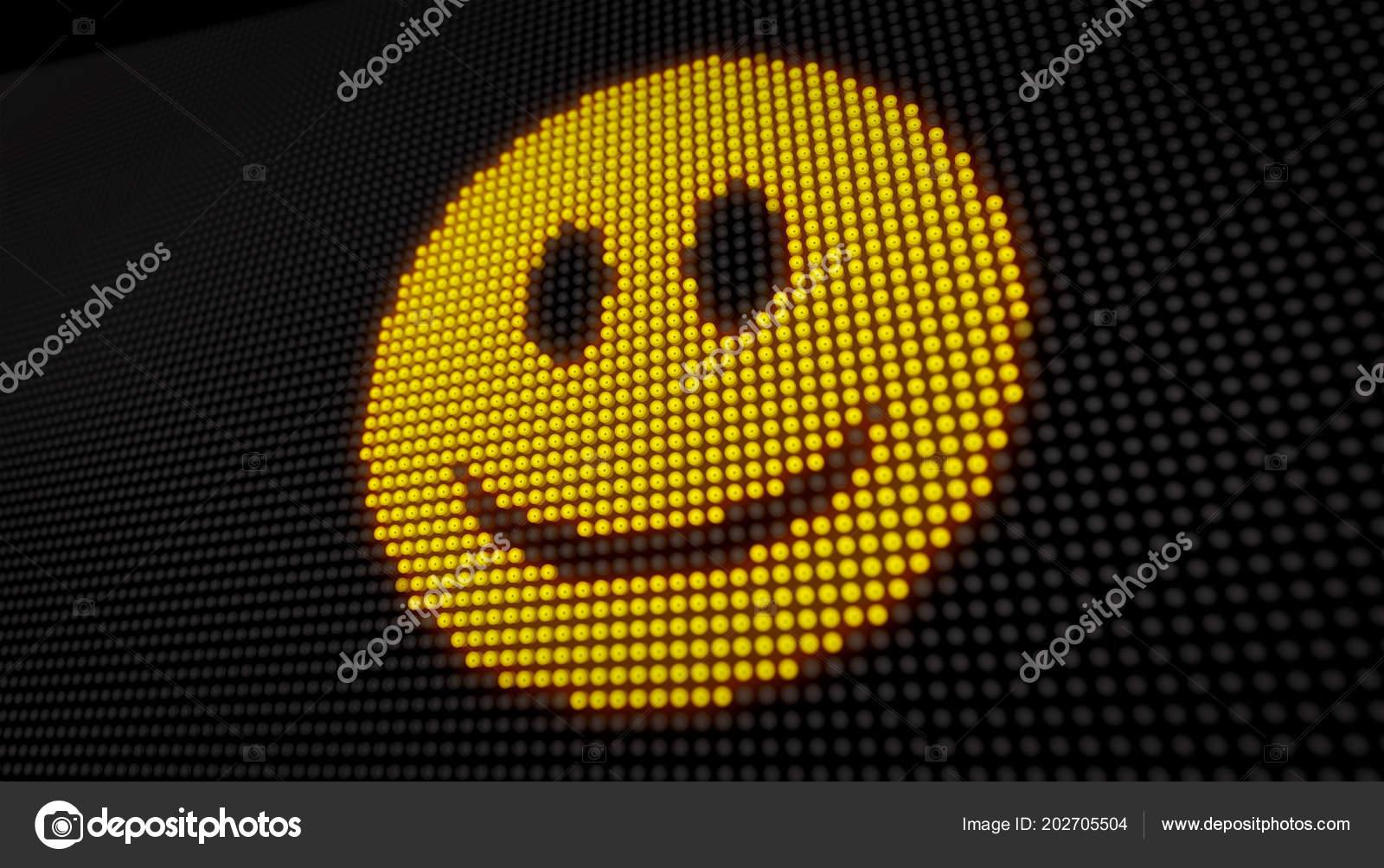 Led Sourire Écran Avec Emoticon Sur Gros Grand Des Visage EY9DHIW2