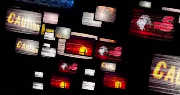 A régi tv zaj állítja be. Repülés között a televízió képernyőjén a hó, és nincs jel. Televíziós jelenít meg absztrakt animáció zökkenőmentes szorongásos hangulattal.