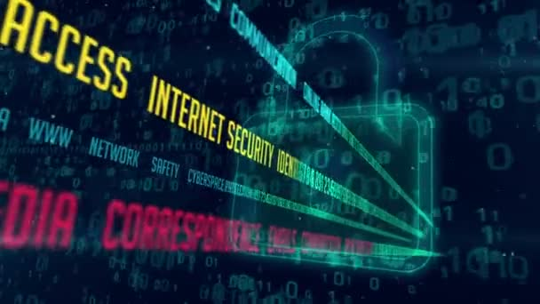 Internet communication and cyber security concept with padlocks icon on  digital background  Encryption and decode of data stream transmission
