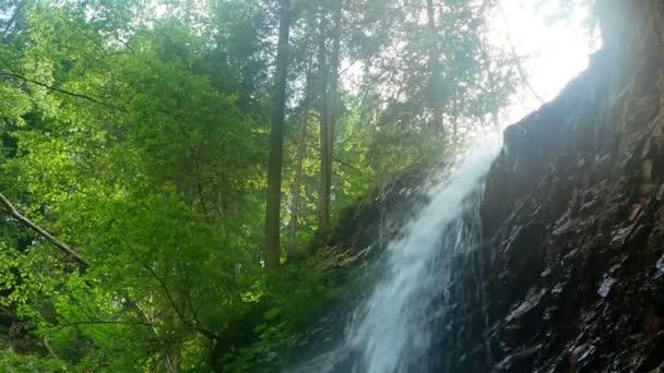Vodopád hory dřeva lesů