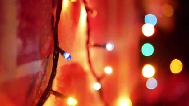 Fa, díszített lights karácsony