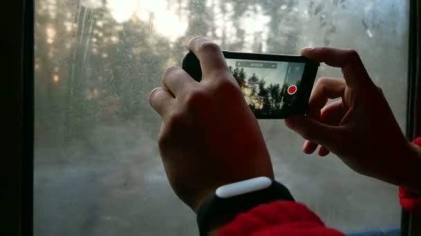 Travels train winter smartphone