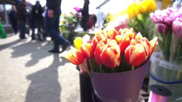Flowers street market people