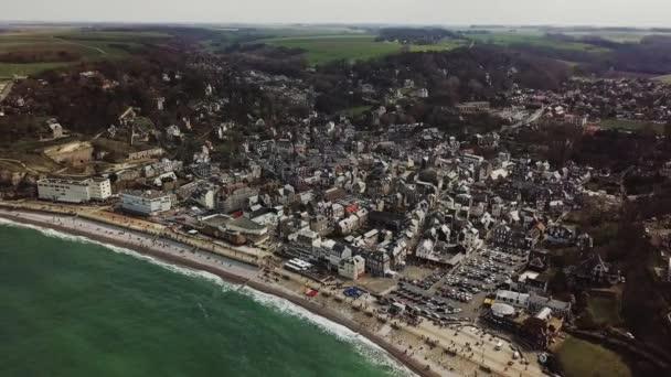 Amazing Drone footage city dEtretat Etretat by drone