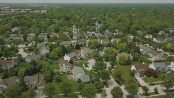 A légi felvétel a külvárosi környéken. drone panorame áthelyezése
