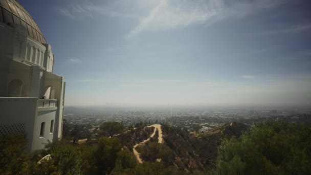 pohled na Downtown Los Angeles city z observatoř Griffith Park
