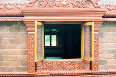 windows of thai stone temple