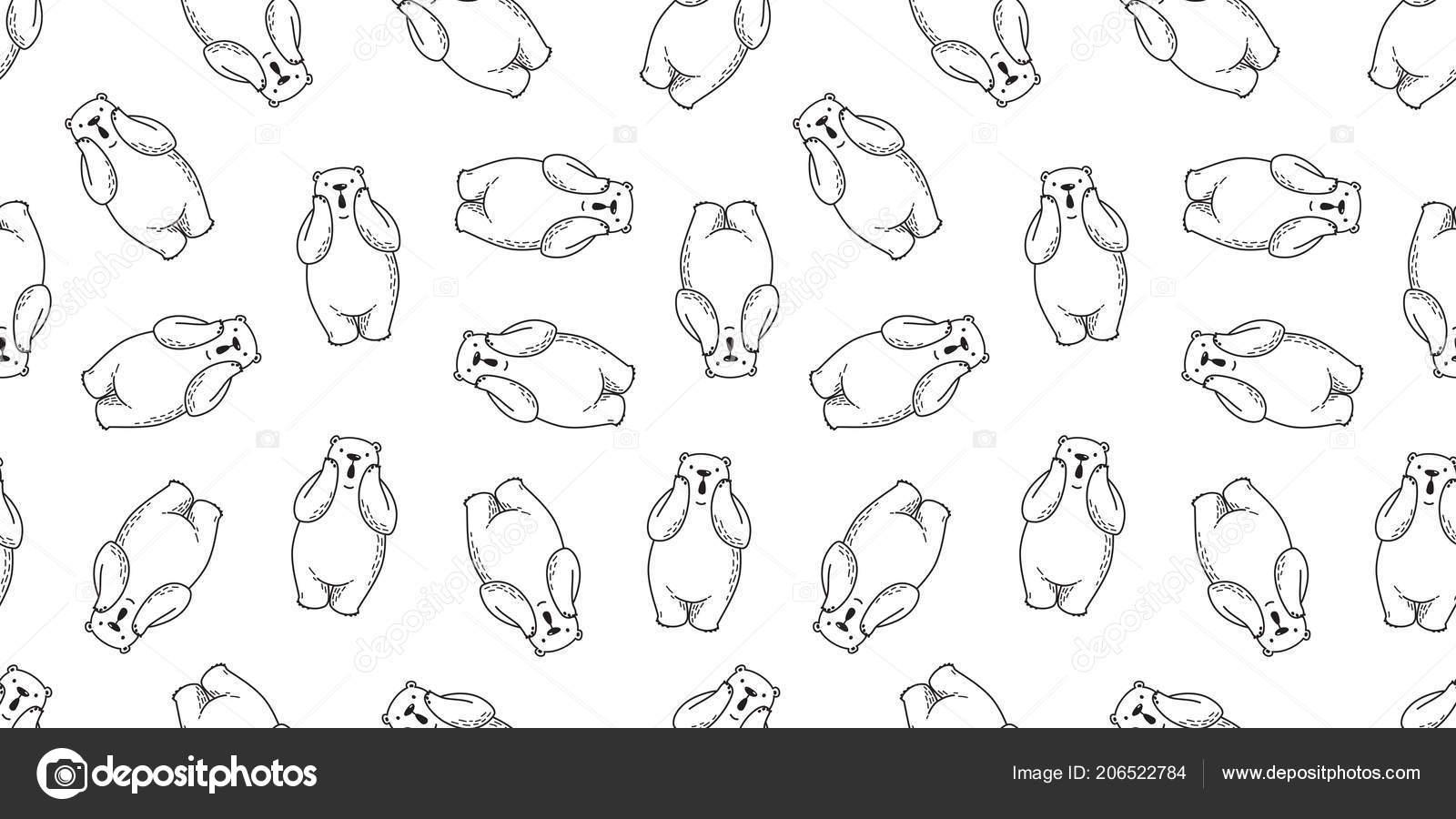 Oso Oso Polar Sin Costuras Vector Patrón Aislado Vector Wallpaper ...