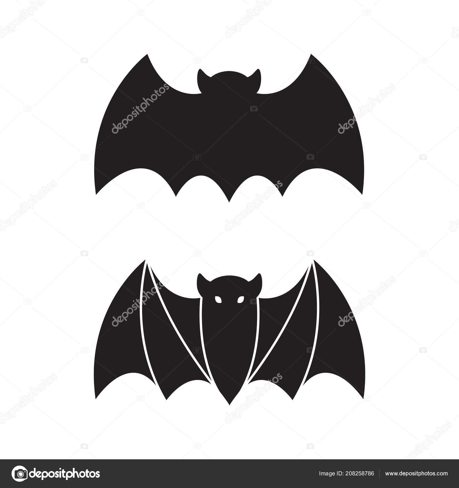 Fledermaus Vektor Halloween Symbol Logo Symbol Doodle Abbildung