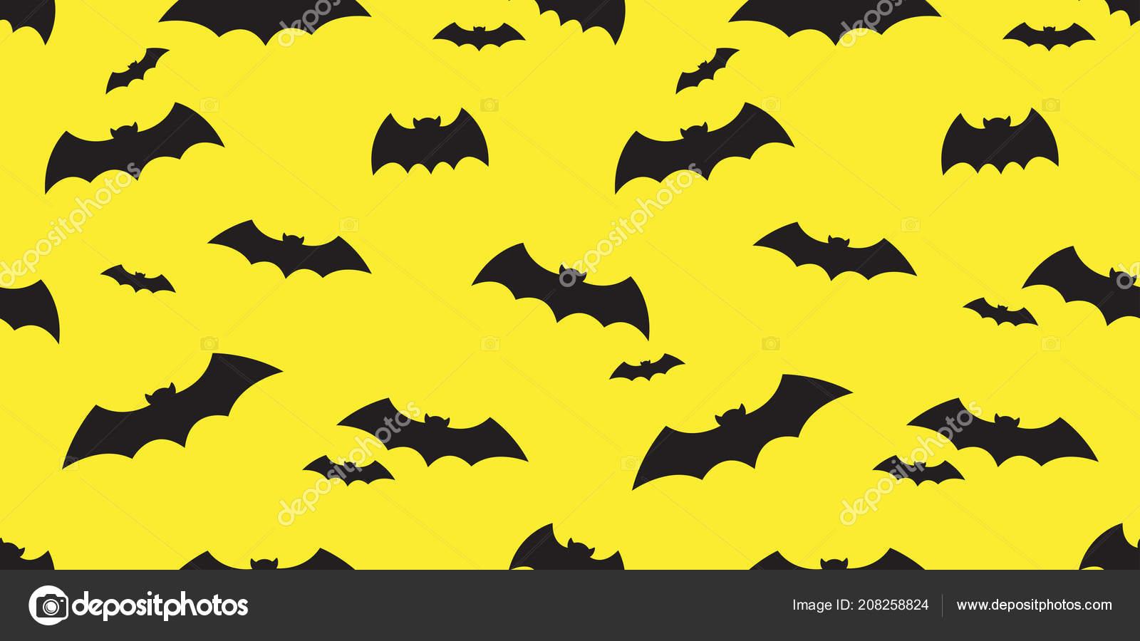 Fledermaus Musterdesign Vektor Halloween Isolierten Symbol Doodle