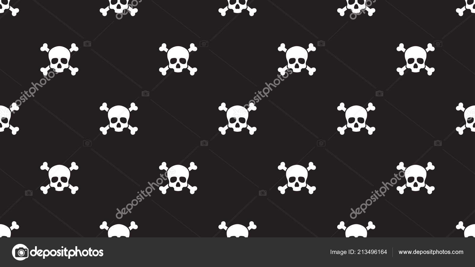 Pirate Skull Wallpaper Pirate Skull Seamless Pattern