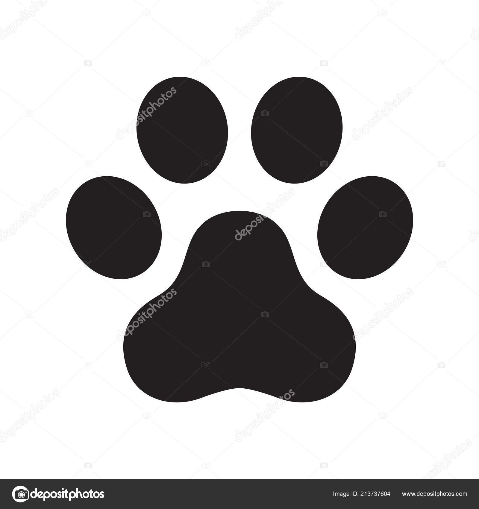 Pata Perro Vector Huella Logo Icono Símbolo Ilustración Gráfica Gato