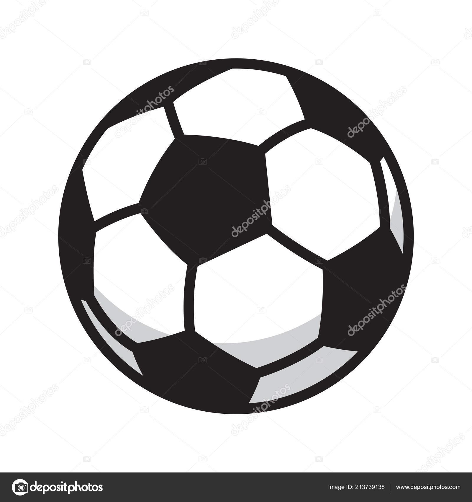 Soccer Ball Fussball Symbol Logo Symbol Abbildung Cartoon