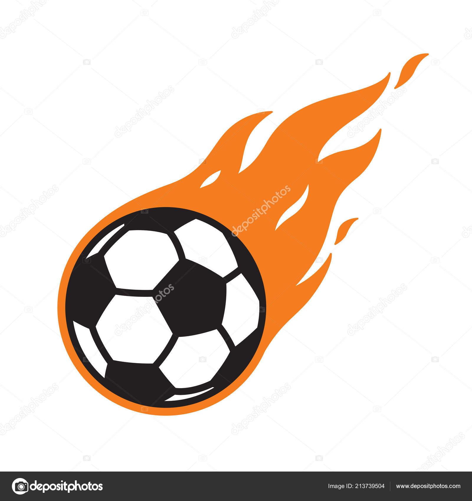 Soccer Ball Vector Logo Icon Football Fire Symbol Illustration Cartoon Stock Vector C Cnuisin 213739504