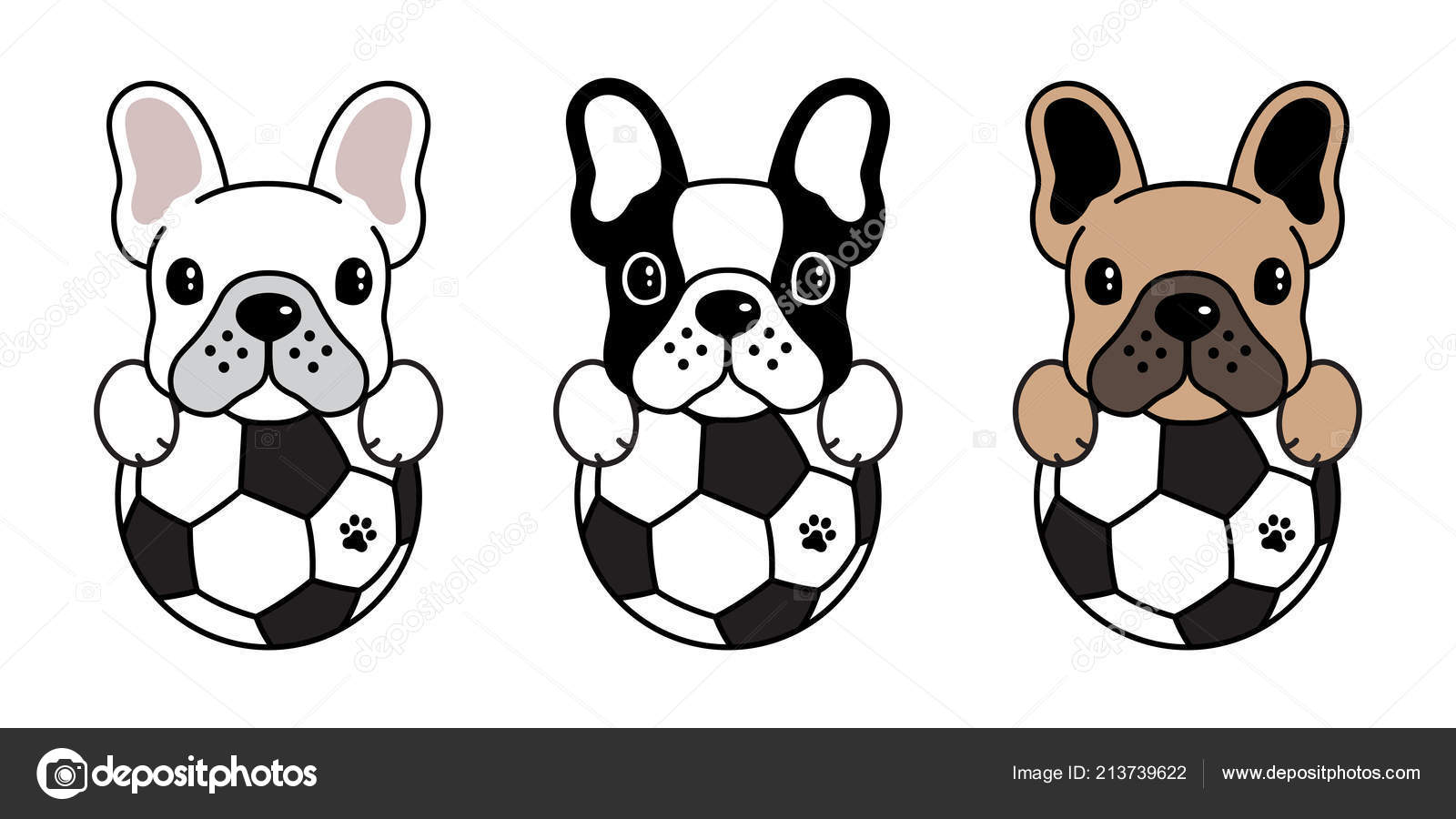 Dog Vector French Bulldog Icon Logo Cartoon Soccer Football Fifa