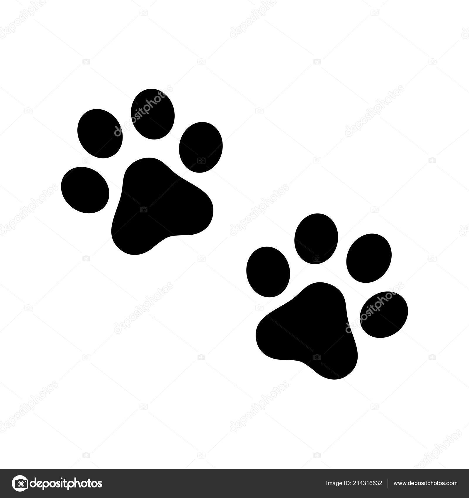 Patte Chien Vecteur Empreinte Icône Logo Symbole Graphique