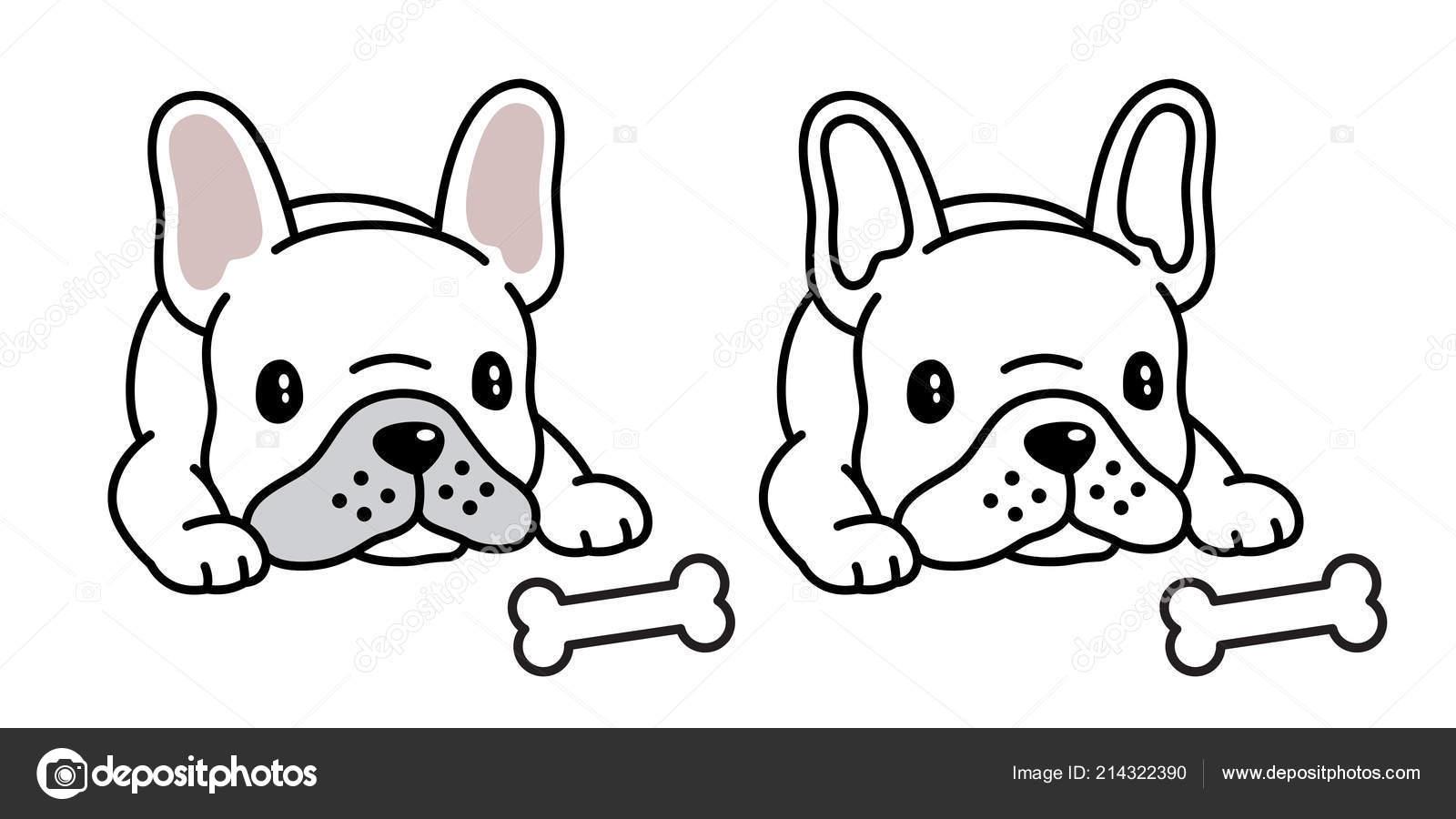 Pes Vektorove Buldocka Ikona Logo Kresleny Charakter Obrazku Symbol