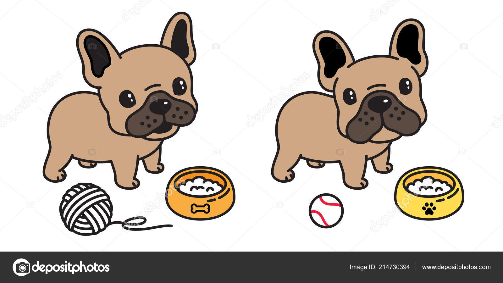 Chien vecteur bouledogue fran ais dessin anim logo boule - Bulldog dessin anime ...