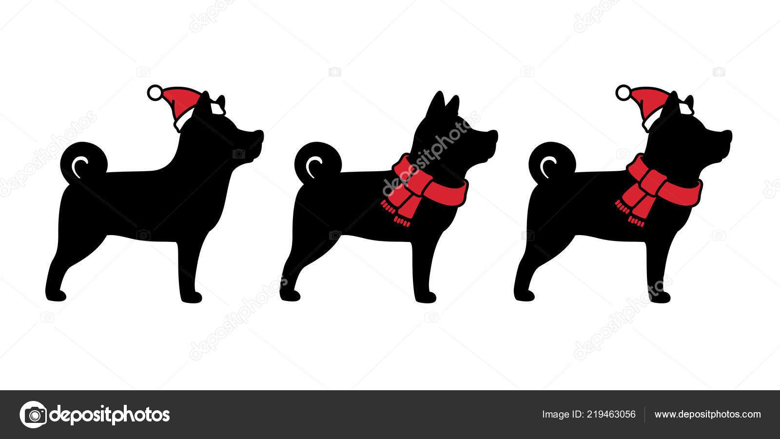 Hund Vektor Weihnachten Weihnachtsmann Symbol Zeichen Cartoon Xmas ...