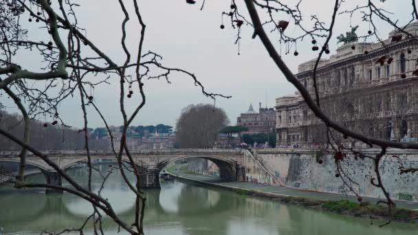 ROME - FEB 20: Castel Sant Angelo toward Vatican city, river