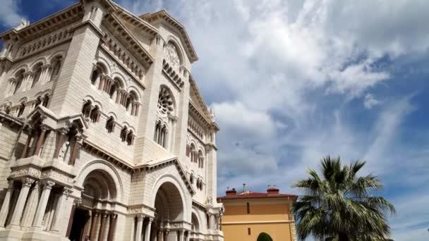 Kathedrale von Monaco, eine römisch-katholische Kirche in Monaco-Ville, Monaco, Neigung nach unten