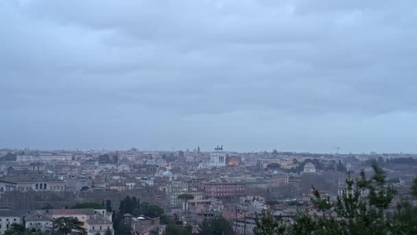 ROME, ITALY - MAY 31 2018: Timelapse of Rome panorama .