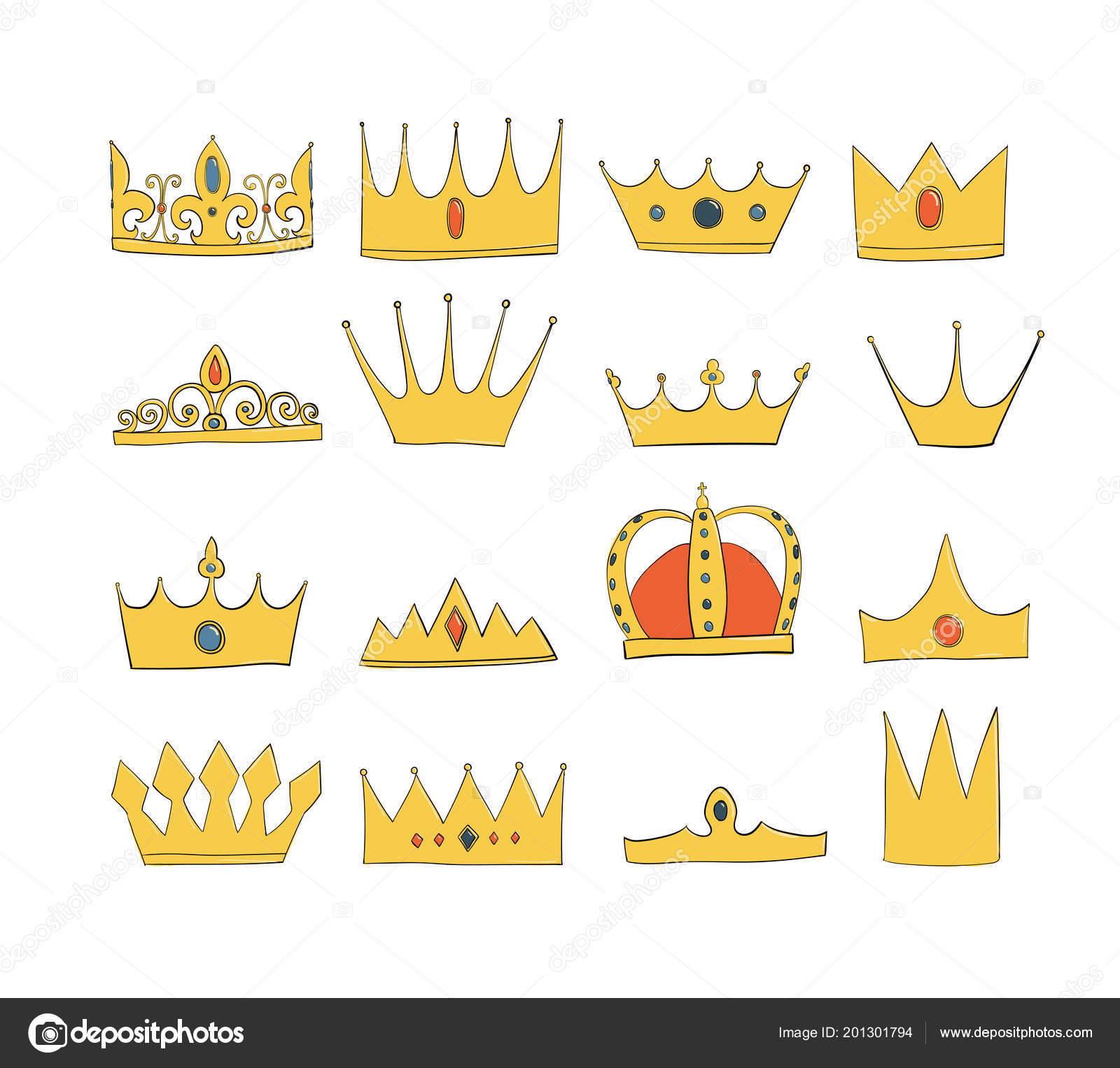 Crowns With Gems And Diamonds Set A Symbol Of Authority Headpiece