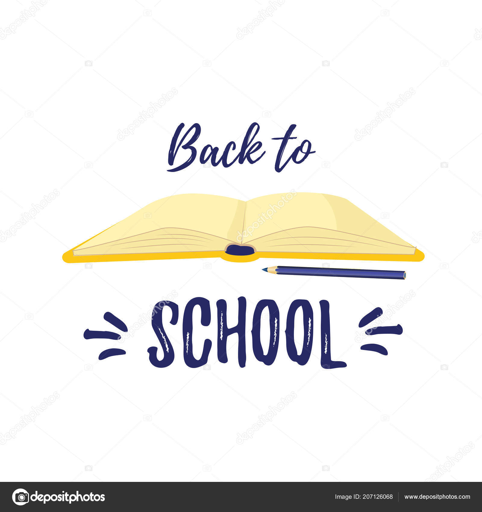 Back To School Symbol Of Knowledge And Study The Book Open