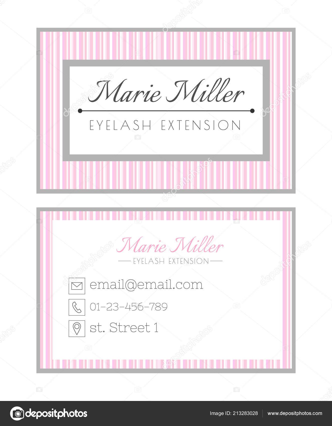 Visitenkarten Vorlage Design Für Beauty Salon