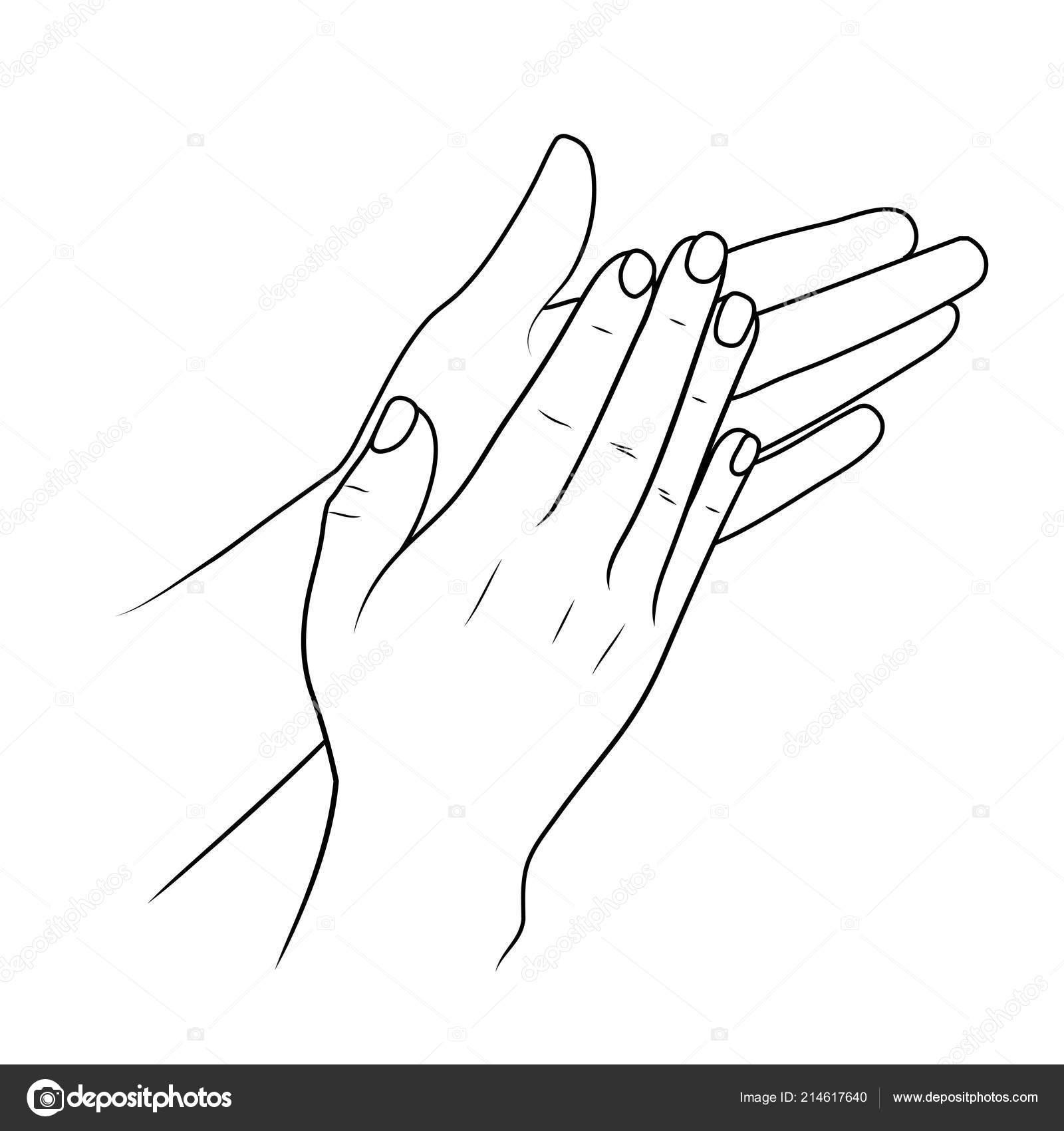 m 227 os a bater palmas ou aplaudindo ilustra 231 227 o linear ou