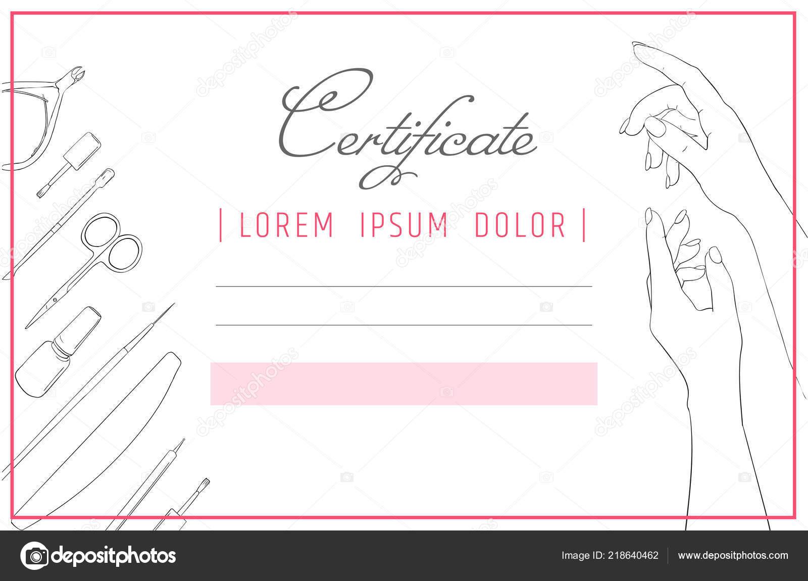 Manucure De Modele De Certificat Et Nail Design Diplome Spa Soins