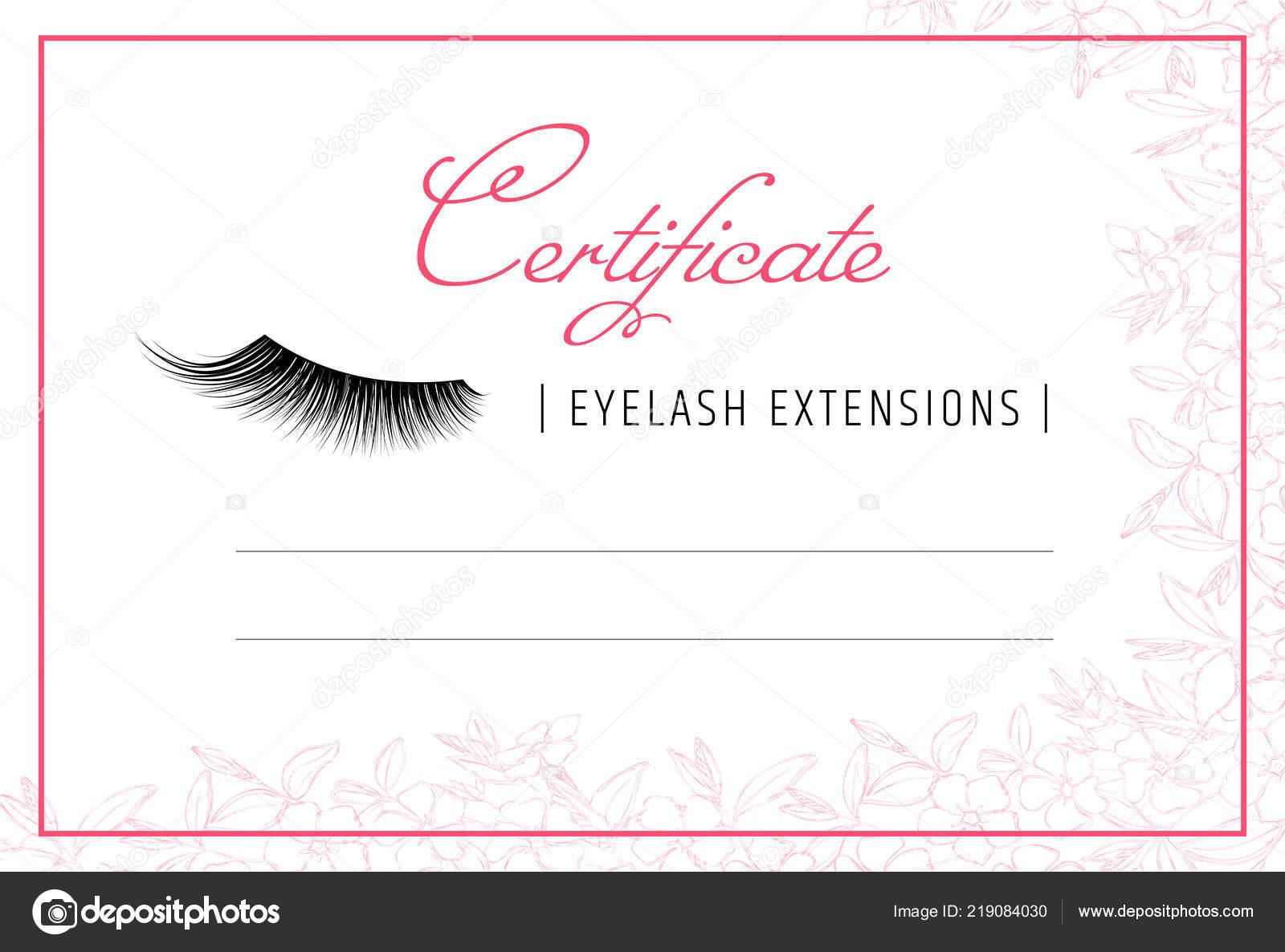 Diploma Eyelash Extensions Makeup Certificate Template Beauty