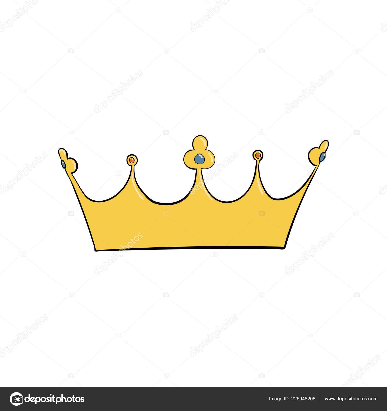Роялти вектор символ золотая королевская корона короля королевы и.