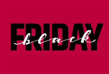 Black friday lettering. Seasonal autumn sale. Trendy Typography