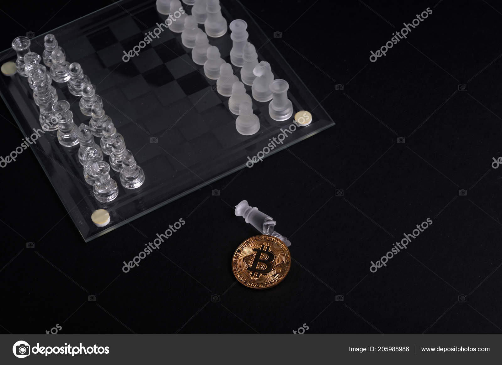 Piece Broken Chess Bit Coin Finance Business Conceptual